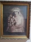 A portrait of Tom's daughter, Francis Dennison Ragan, on her wedding day.