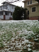 And what awaited my return to Nebraska. Snow in May. Glorious.