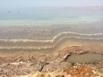 Salt deposits in the Dead Sea.