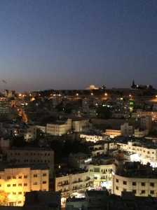 View of Amman from Wild Jordan cafe, with the Citadel in the distance.