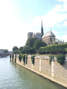 Notre Dame along the Seine.