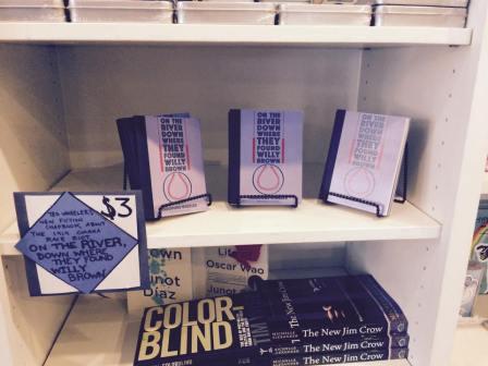 On its own shelf at Indigo Bridge Books in Lincoln.