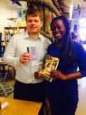 Pre-reading photo at Indigo Bridge with Julie Iromuanya.
