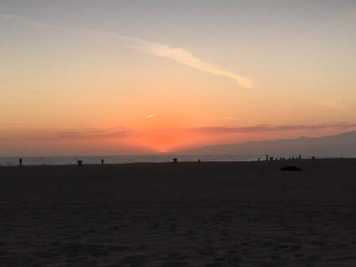 Sunset at Venice Beach.