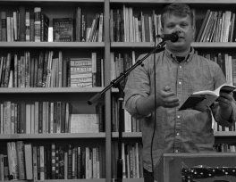 """""""Yes, I actually do this for a living,"""" at Pegasus Books Downtown in Berkeley."""