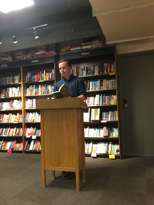 Dave reading at Boswell Book Co.