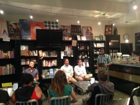 Our introduction at the Book Cellar in Chicago.