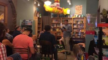 My turn to read at Indigo Bridge Books in Lincoln.