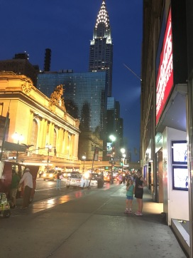 Grand Central Station at night.