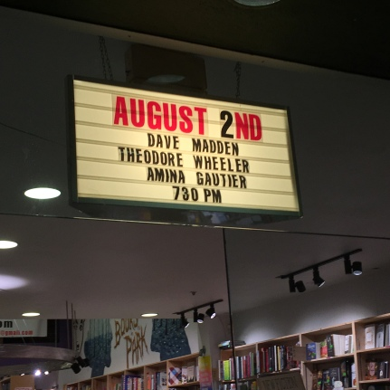 The marquee at Green Apple Books on the Park in San Francisco.