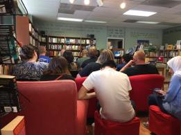 A great crowd at Beaverdale Books in Des Moines.