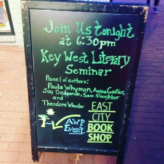 Outside our KWLS reading at East City Bookshop.