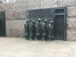 At the FDR Memorial.