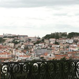 Miradouro de São Pedro de Alcantara, just around the corner from my place in Lisbon.