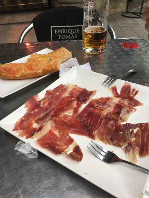 Jamón in Barcelona.