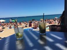 Beach drinks, Barcelona.