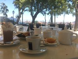 Miradouro breakfast, Lisbon.