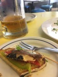 Sardine tapas at Sol e Pesce, Lisbon.
