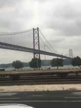 Golden Gate Bridge, sort of, Lisbon.