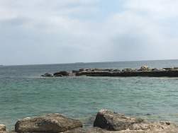 The rocky outcrop we sunned on at Cascais.
