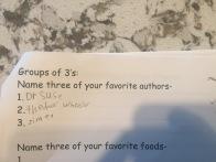 My nephew's favorite authors.