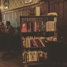 The Dundee Book Co bookcart made it's debut at PTL Literary Pub Quiz.