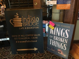 A warm welcome to the Lincoln launch of Kings at Indigo Bridge Books.