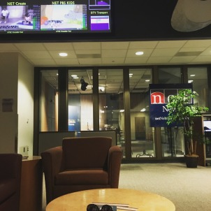 Waiting for studio time at NET before recording my NPR debut.
